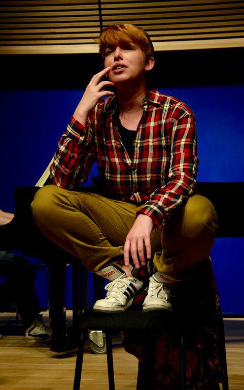 Aiden Feltkamp as Cherubino from a 2015 production of Le nozze di Figaro (photo credit Nikhil Saboo)