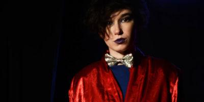 Alexa Rosenberg as Prince Orlofsky from OperaRox's Opera Rave Masquerade at the Stonewall Inn