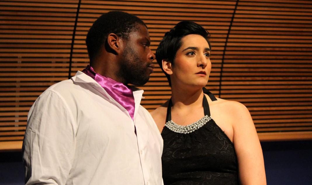 Nicholas Wiggins as Robert Schumann, Aumna Iqbal as Clara Schumann. Photo by Aiden Feltkamp (OperaRox Productions)