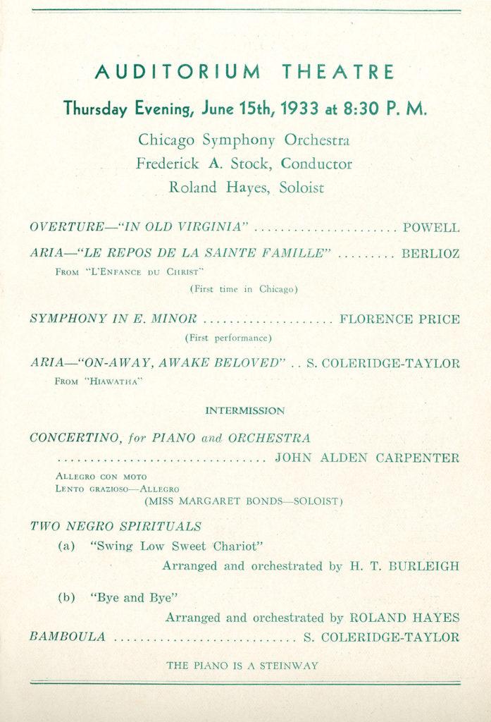 CSO program, June 1933