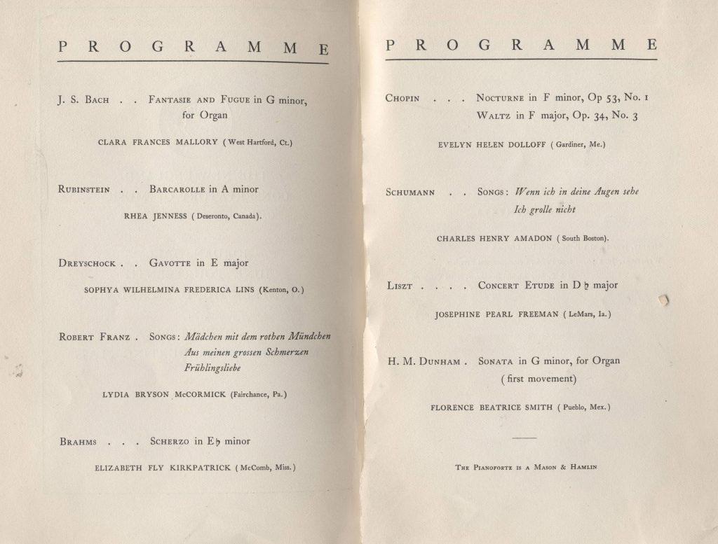 New England Conservatory program