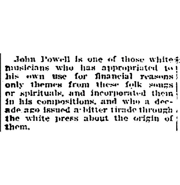 "Oscar E. Saffold, ""How American Folk Songs Started,"" Chicago Defender, 25 Feb. 1933"