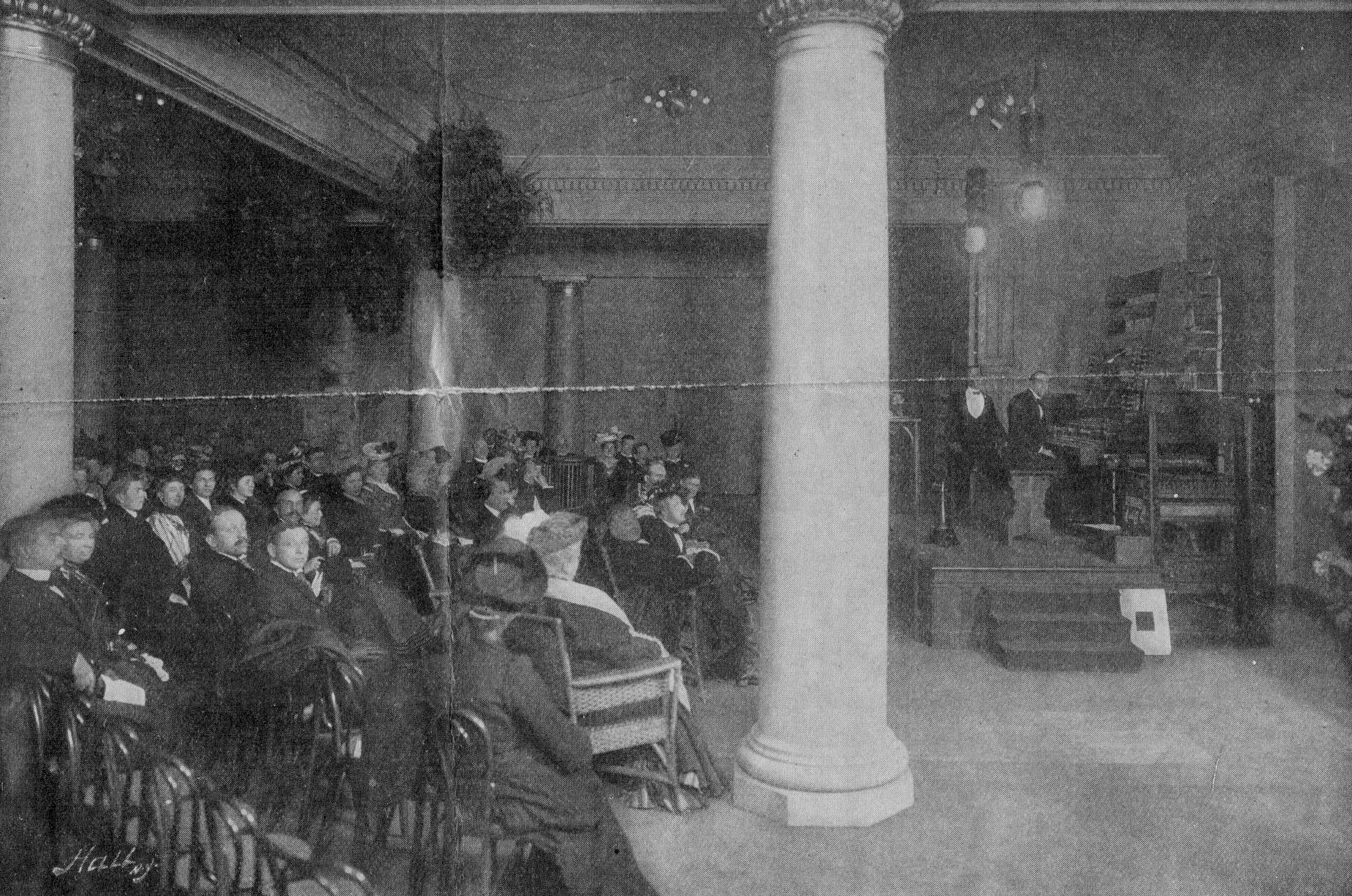 Crowd in Telharmonium Hall
