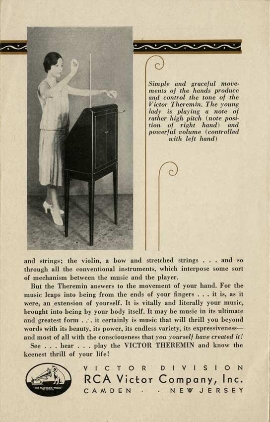 RCA Victor theremin brochure c. 1930