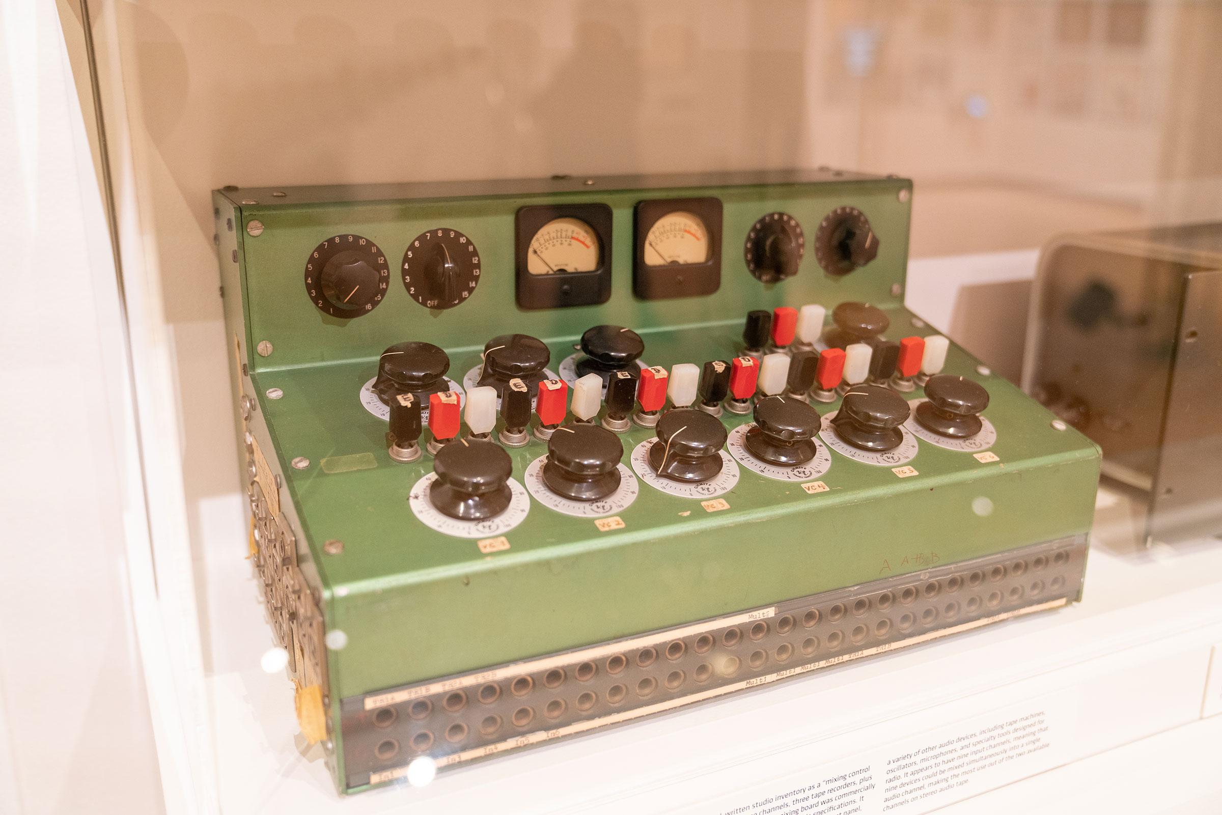 Custom Green Mixer from Otto Luening's studio at Columbia