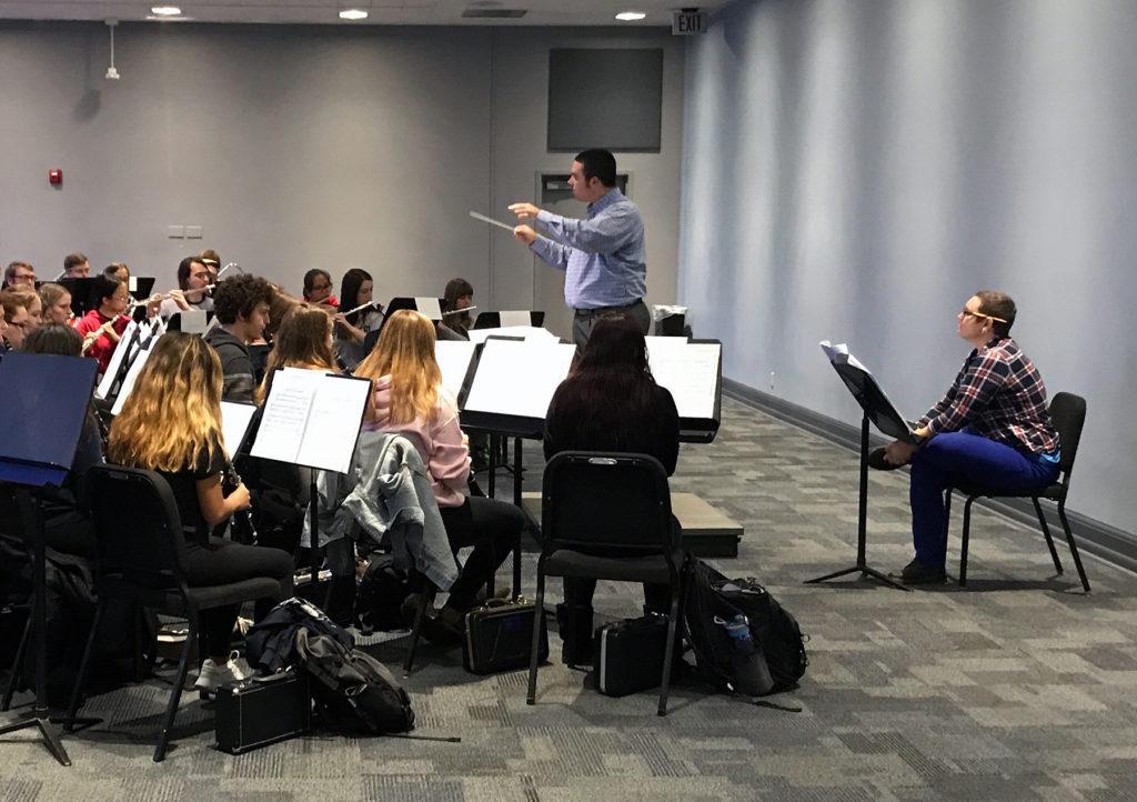 UWM Band Rehearses Universe