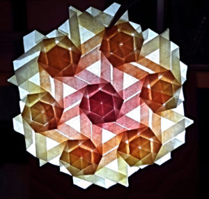 A stacked hexagonal twists tessellation
