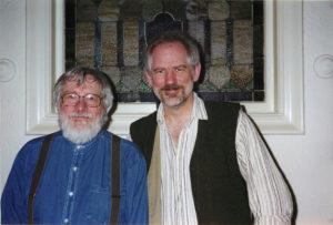 Ben Johnston and Kyle Gann c. 1994 (Photo by Bill Duckworth)
