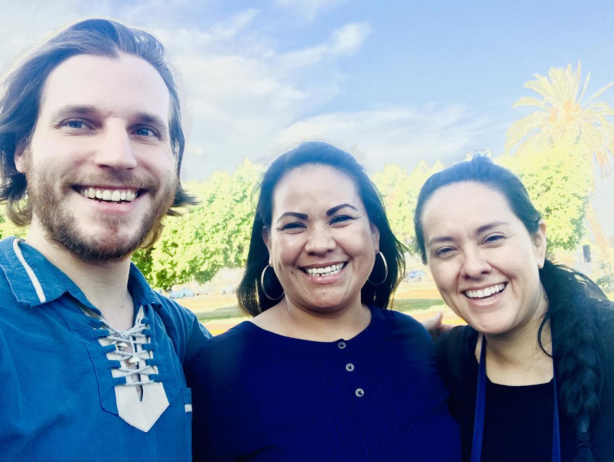 Reyna Lourdes Anguamea (center) with Benjamin Barson and Gizelxanath Rodriguez