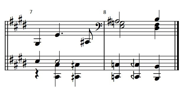 A score excerpt showing Ernst Toch's quartertonal reworking of a Beethoven bass line.