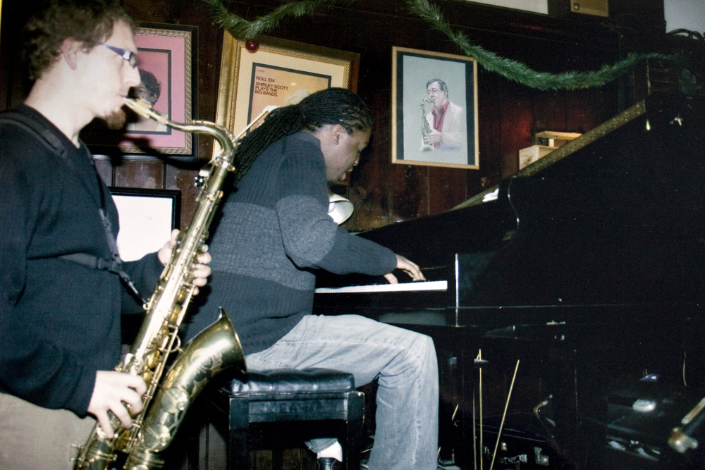 Victor North and George Burton performing at Ortleib's