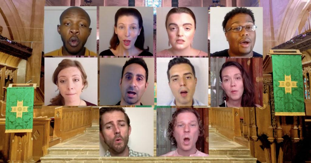 A screenshot from an online performance of The FCCLA Virtual Choir