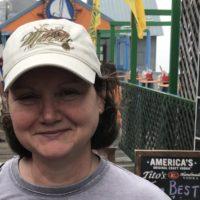 Julie Giroux on boardwalk