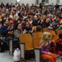 full audience listening