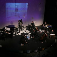 Synchromy; mixed instrument ensemble including toy piano, accordion and eletronics