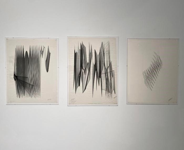 Three computer generated graphics by Herbert Brün