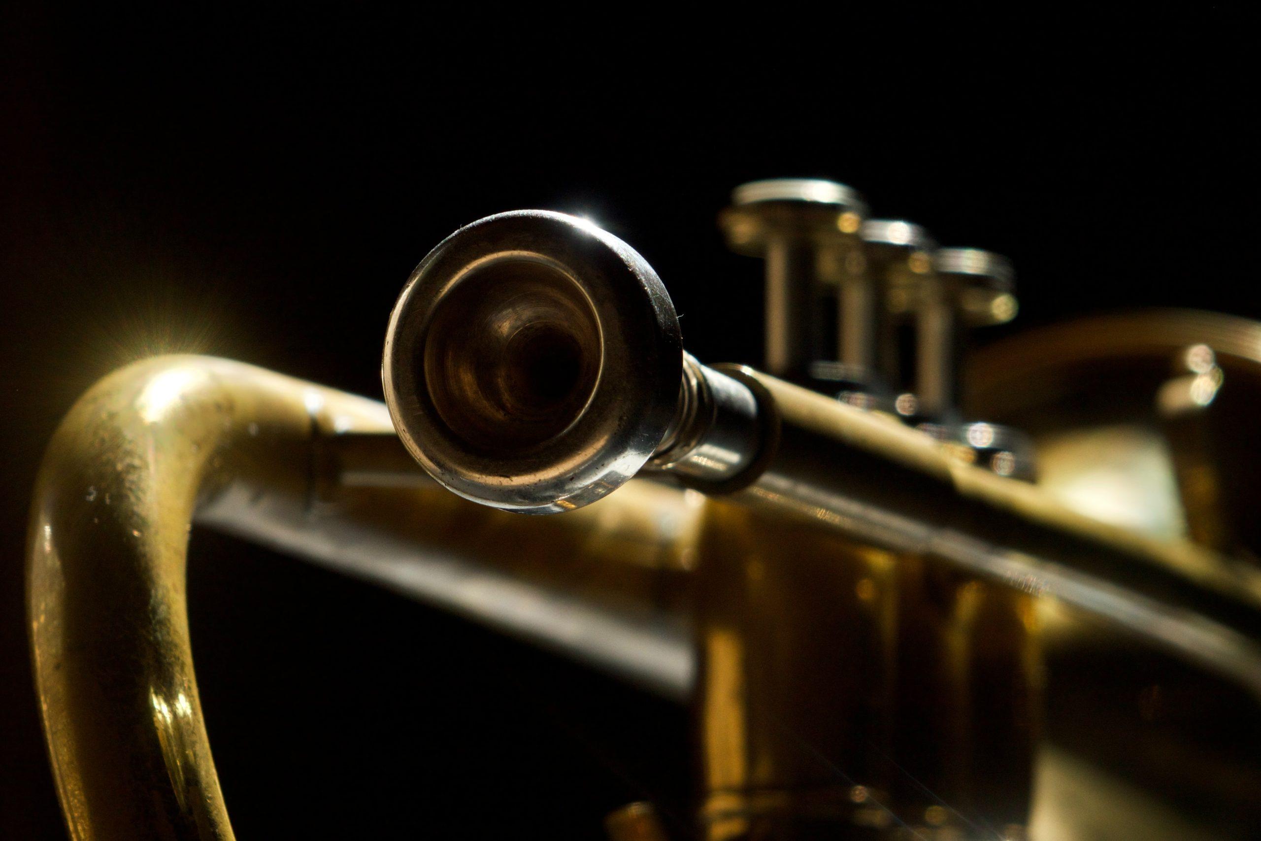 close up of a trumpet